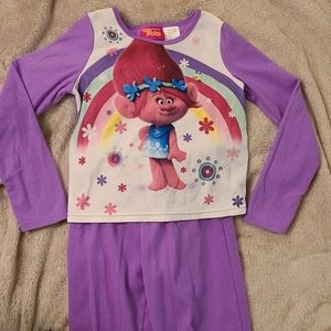 Girls Trolls pajamas size 7/8